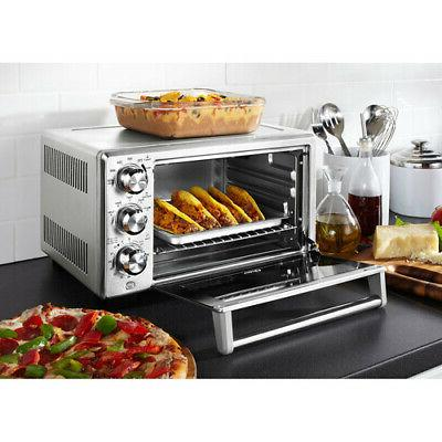 Stainless Silver Convection Toaster Oven Electric Digital La