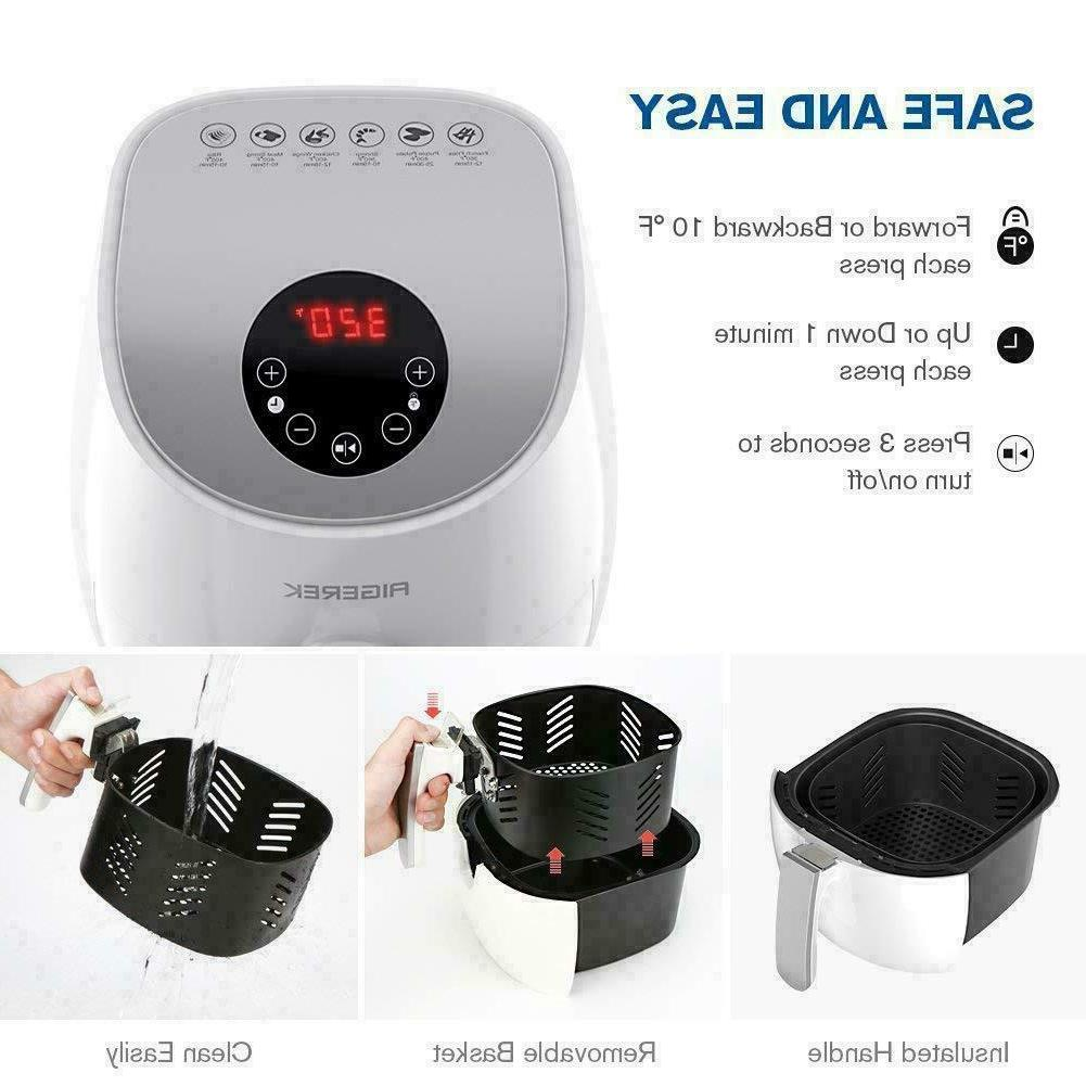 6 Air LED Touch Timer,Temperature