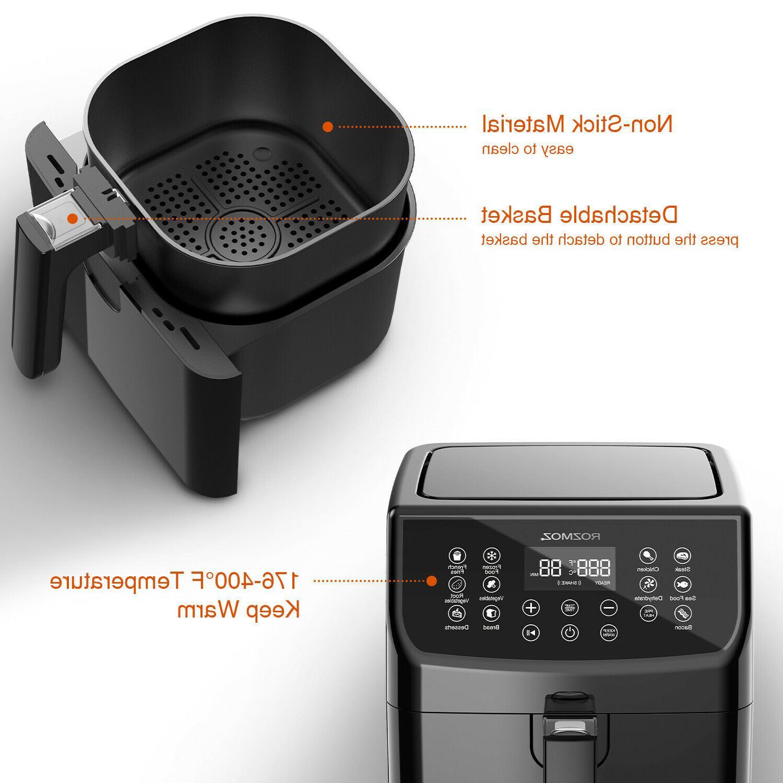 Rozmoz Fryer 5.8 Qt Recipe Genuine Digital Touchscreen
