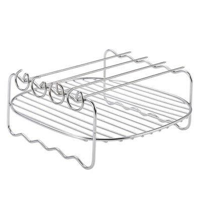 BBQ Rack Home Air Fryer Holder Stainless-Steel Double Deck S