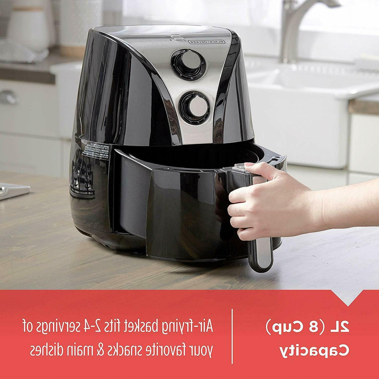 BLACK+DECKER Purify Fryer, Black/Stainless