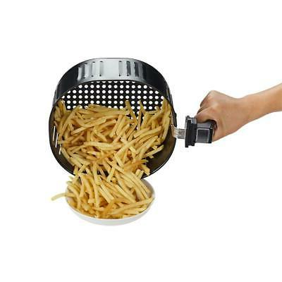 Black Air Fryer GoWISE 8-in-1 Timer Cooker Kitchen NEW