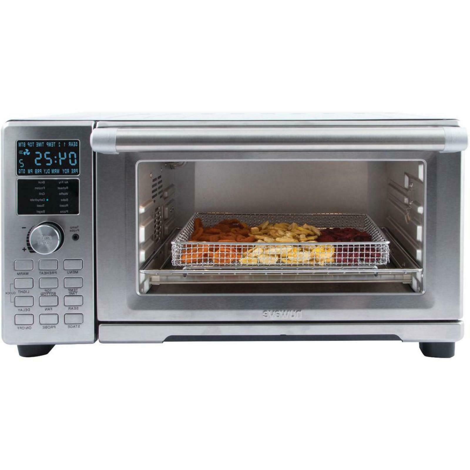 Bravo 1800 4Slice Stainless Steel Toaster Oven Air Fryer Controls