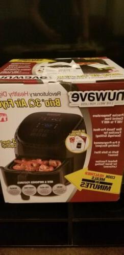 NuWave Brio Black 3 qt. Digital Air Fryer LED Touch Screen 3