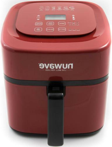 brio digital air fryer 6 qt red