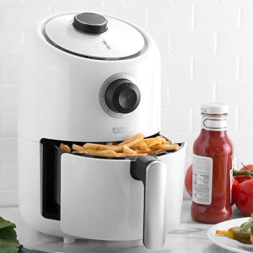 Dash Compact Air 1.2 Fryer Oven Cooker Temperature Control, Non Fry Recipe + Auto Shut