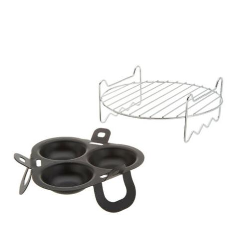 Cook's Essentials 2 Nonstick Air Set Silve