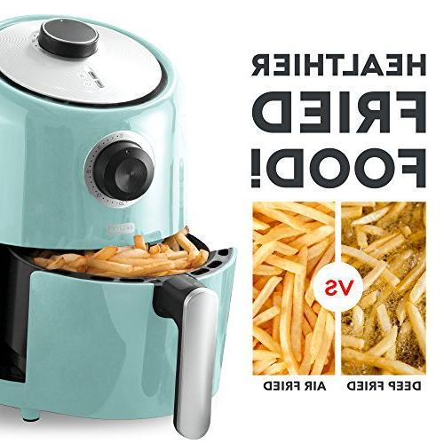 Dash Air Fryer 1.2 Fryer Cooker with Temperature Control, Fry Basket, + Auto Shut off Feature - Aqua