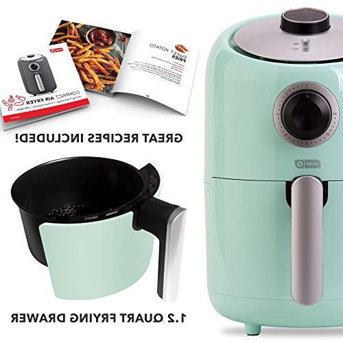 Dash Compact 1.2 L Electric Air Fryer Cooker Temperature + Auto Shut Feature
