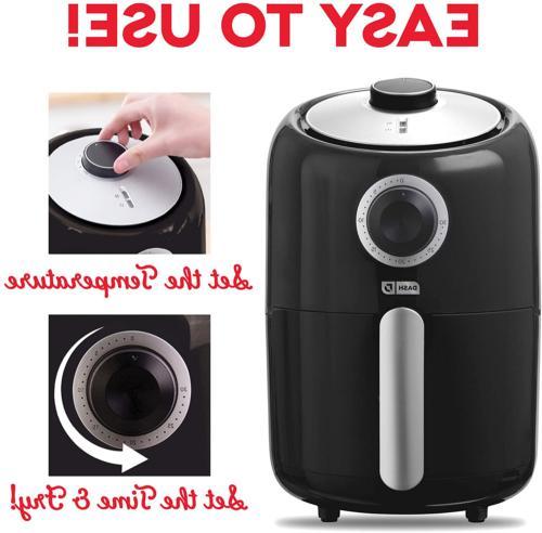 Dash DCAF150GBBK02 Compact Fryer Temperature Control, S