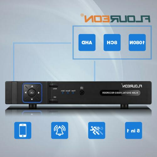 8CH AHD 1080N HDMI Video Recorder DVR NVR for CCTV Camera Ho