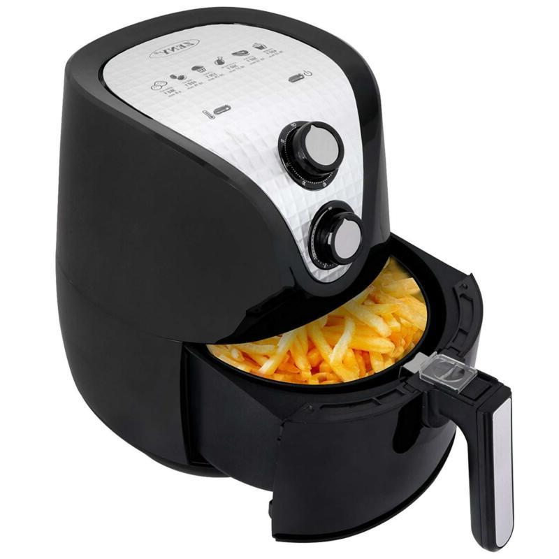 Zeny Electric Air Fryer 1500w 3 7qt Cooking Tool