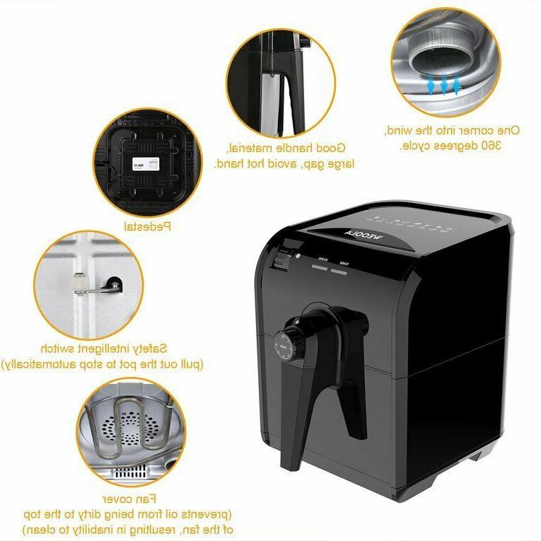Electric Air Fryer Qt Temp 8 Oil