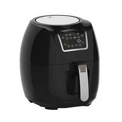 Electric Air Fryer 6 Qt 1700W Digital Timer Temp Control 8 P