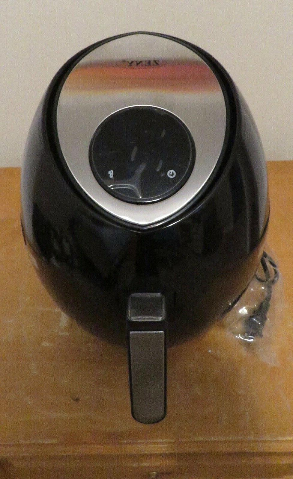 Zeny Electric Air Fryer 919ts Black With Cookbook