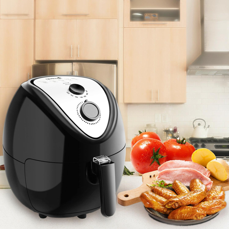 electric air fryer temperature control fryer pan