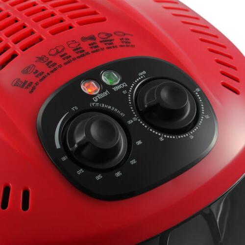 7.4QT Electric No Air Fryer Temperature Timer