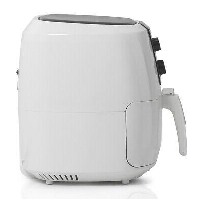 DELLA Electric AirFryer XL 5.8-qt 1800watt Extra Large Fryer Rapid Air -White