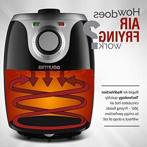 Gourmia GAF218 Air Fryer | | Adjustable Time and Temperature Dials Removable, Dishwasher-Safe Tray Book