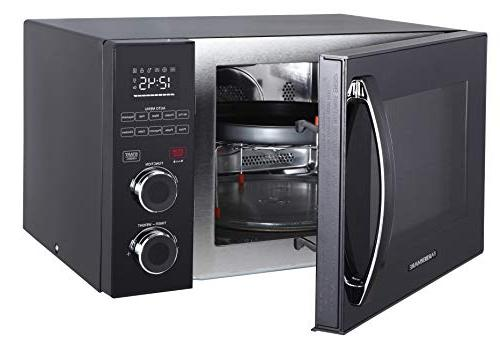 Cu. Ft Microwave Oven with Fry and Grill/Convection LED Lighting, Black