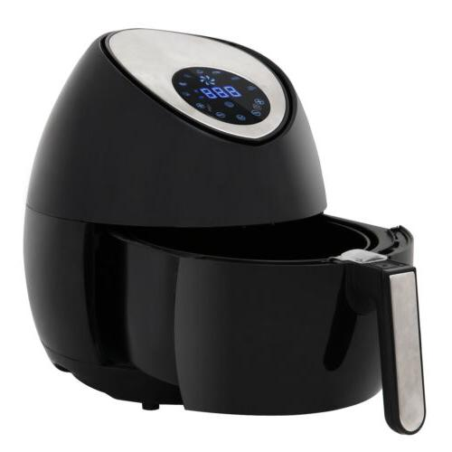Electric Air Fryer W 7 Cooking Presets Temperature