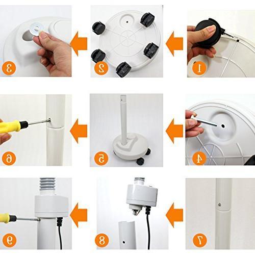 Super Deal PRO LED Magnifying 5 Wheels - Adjustable Gooseneck - Magnifier For Use