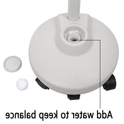 Super Deal PRO LED Magnifying Floor - 5 Wheels - Adjustable Gooseneck - Magnifier Glass Light, For Professional Use Crafts