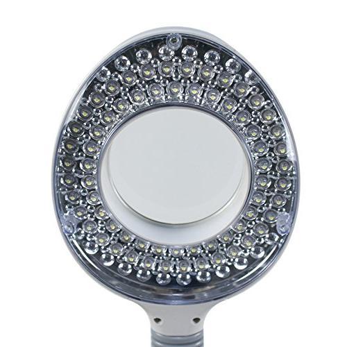 Super Deal Magnifying Floor Lamp 5 Wheels - Diopter Adjustable Gooseneck Glass For Professional Use Crafts