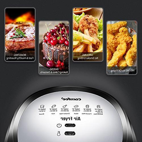 Comfee1500W Air Fryer 2.6 Qt. Dishwasher Safe Basket