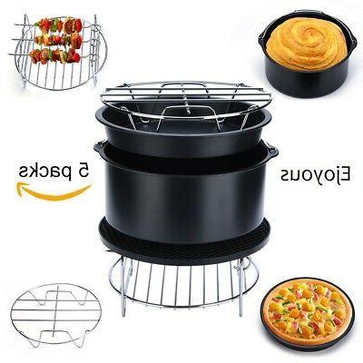 multifunctional 5 in 1 air fryer accessories