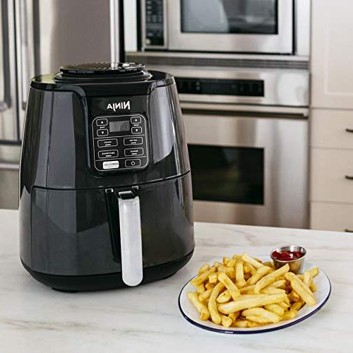 Ninja Fryer, Frying, Reheating Dehydrating with 4-Quart Coated , Black/Gray
