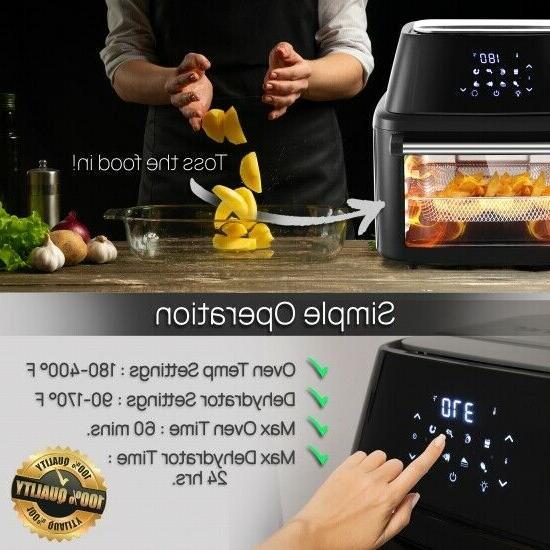 NutriChef Air Fryer Oven Rotisserie, High Power