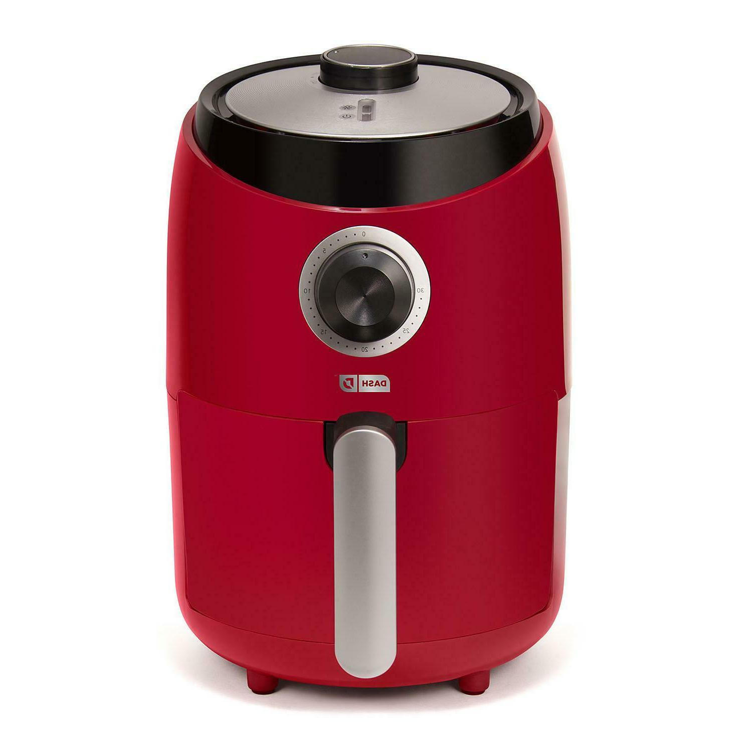 pro compact air fryer dual insulated red