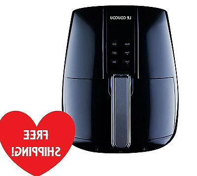 Rapid Air Fryer Electric Low-Fat Le Coucou Black Harmony II