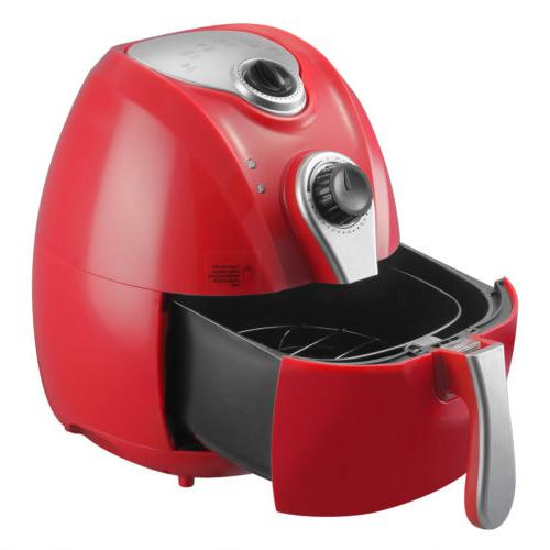 4.4QT 1300W Red Oil Less Fryer with Temperature Control