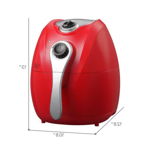 4.4QT 1300W Red Oil with