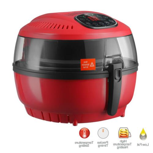 red electric oil air fryer