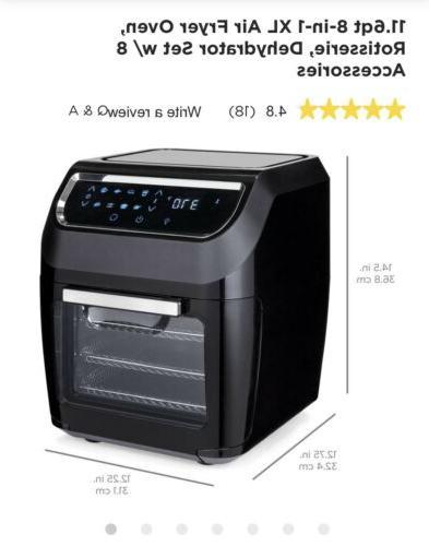 Best Choice 1700W 11.6qt 8-in-1 Air Fryer
