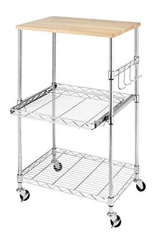 Whitmor 6056 3536 Supreme Microwave Cart