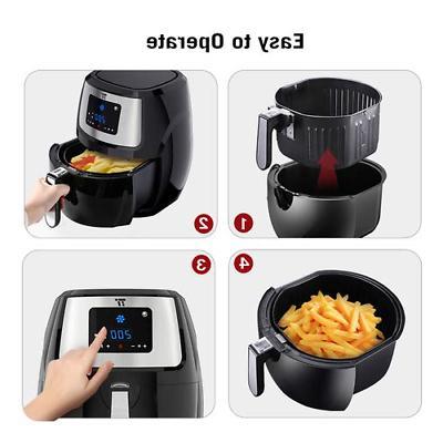 TaoTronics TT-EE005 Fryer Cooking Presets, LED Screen