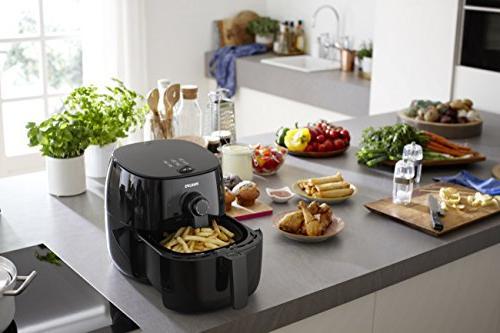 Philips Viva Fry Healthy 75% Less Fat, HD9621/96, Black