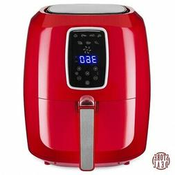 large air fryer red family automatic home