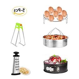 MARKKEER Pot Accessories Set Steamer Basket, Egg Steamer Rac