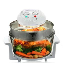 MegaChef Multipurpose Countertop 14.25 Inch Halogen Oven Air