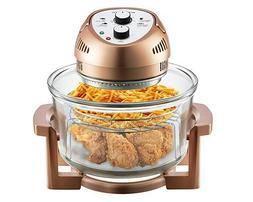 NEW Big Boss 1300-Watt Oil-Less Air Fryer, 16-Quart - Copper