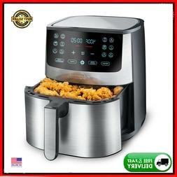 New Gourmia 8-Qt. 12 One-Touch Stainless Steel Digital Air F