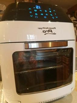 NEW 8 QT Power Air Fryer OVEN PRO 5 racks kabobs rotisserie