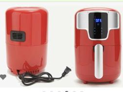 New Cook's Essentials Digital Air Fryer 1.6 Quart Red Colo
