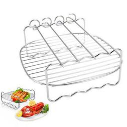 US Replacement Holder Stainless Steel BBQ Rack Air Fryer Bar