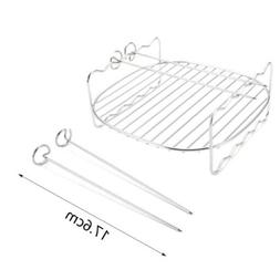 """Outdoor Grill Barbecue Toaster Oven Needle 8"""" Double Layer H"""
